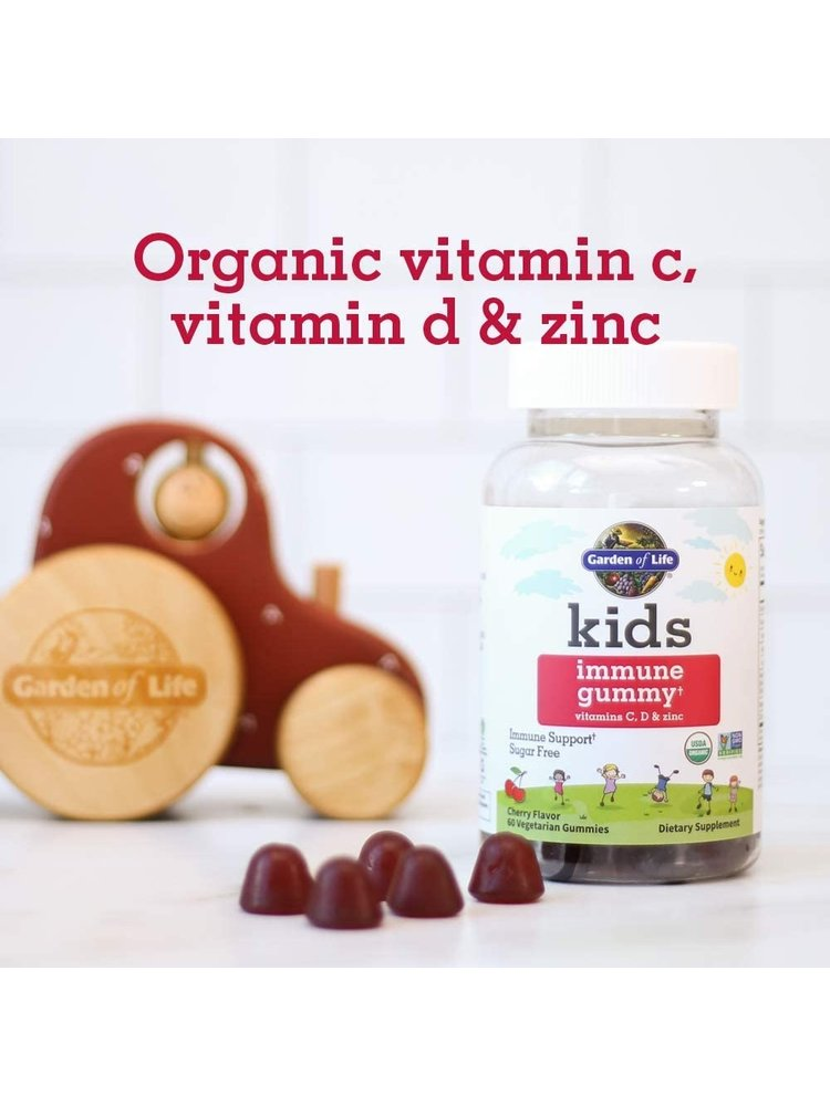 Garden of Life GoL Kids Organic Immune Cherry 60ct GUMMY