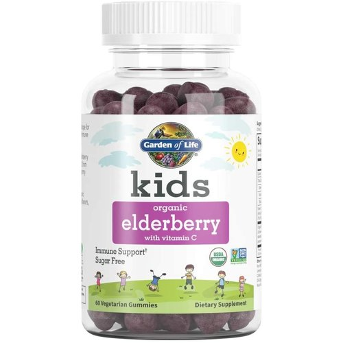 Garden of Life GoL Kids Organics Herbal Elderberry Gummies, 60ct