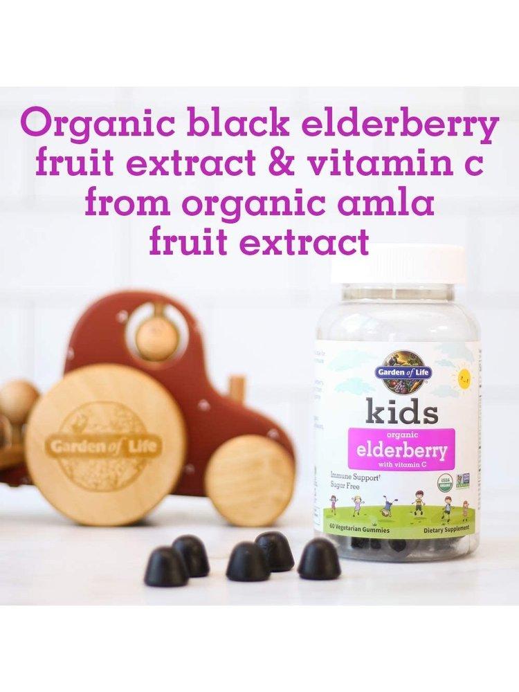 Garden of Life GoL Kids Organics Herbal Elderberry Gummies, 60ct