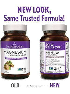 NEW CHAPTER New Chapter Magnesium + Ashwagandha,  30ct