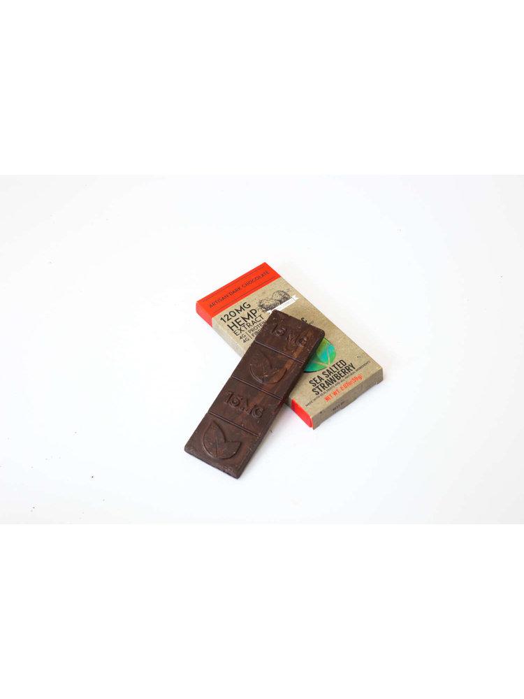 THERAPEUTIC TREATS Therapeutic Treats SSalt Strwbry Dark Chocolate, 120mg, 2.07oz.