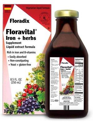 Flora Flora Floradix Iron & Herb, Vegetarian, 8.5oz.
