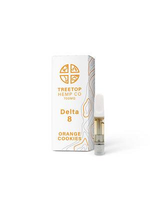 Treetop Hemp Treetop Hemp, D8 Vape Cartridge, Orange Cookies, 1 gram, 800mg