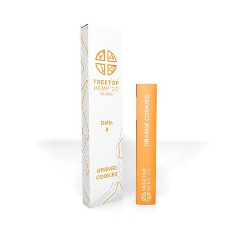 Treetop Hemp Treetop Hemp, D8 Disposable Vape, Orange Cookies, 1 gram, 800mg