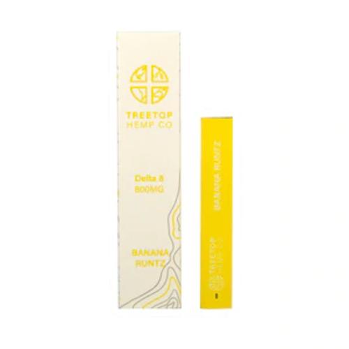 Treetop Hemp Treetop Hemp, D8 Disposable Vape, Banana Runtz, 1 gram, 800mg