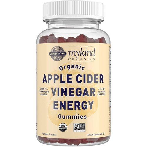 Garden of Life GoL myKind Organics Apple Cider Vinegar Energy Gummies, Organic, 60ct