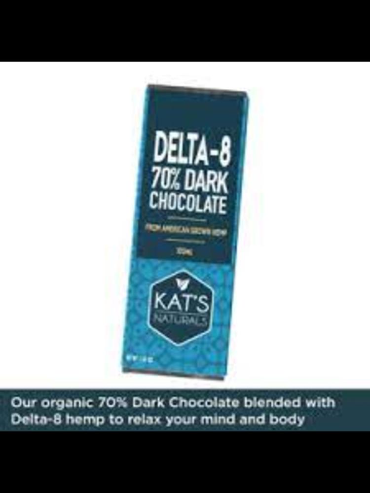 KAT'S NATURALS Kat's Naturals D8 Edible Dark Chocolate Bar, 100mg
