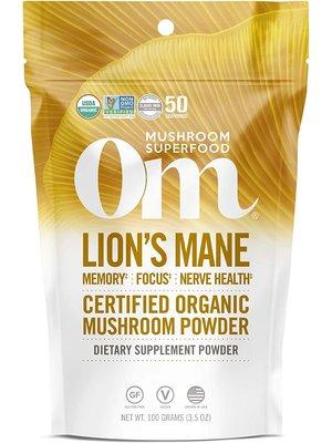 OM Mushroom Om Mushroom Lion's Mane Mushroom Superfood Powder, 100g