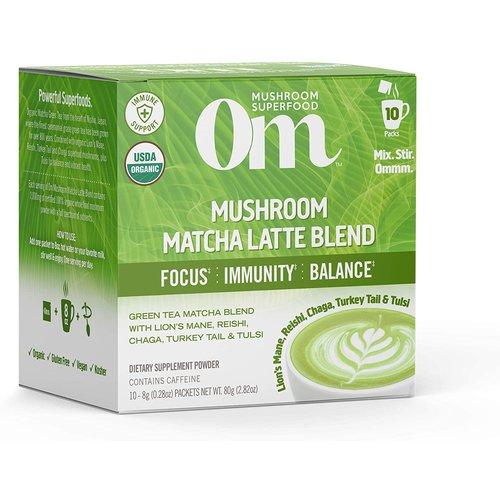 OM Mushroom Om Mushroom Powdered Matcha Latte, 10ct