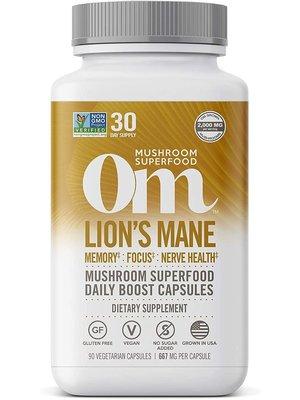 OM Mushroom Om Mushroom Lions Mane Mushroom Superfood, 90cp