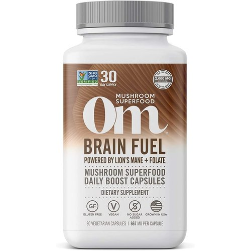 OM Mushroom Om Mushroom Brain Fuel Mushroom Superfood, 90cp