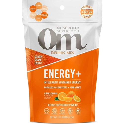OM Mushroom Om Mushroom Drink Mix, Energy +, Orange, 112G