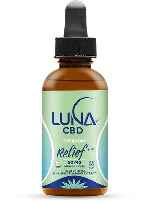 LUNA CBD Luna Everyday RELIEF++, 1500mg 1oz. (formerly Luna Extra Strength Oil)