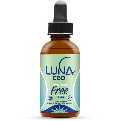 LUNA CBD Luna Everyday FREE, 1oz. (formerly Luna THC free oil)