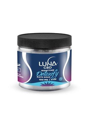 LUNA CBD Luna Nighttime DETOXIFY Bath Soak 100mg, 4oz
