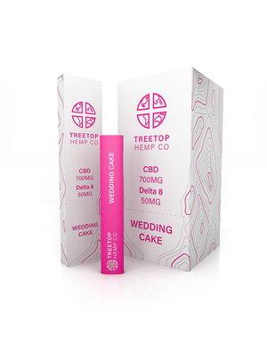 Treetop Hemp Treetop Hemp, D8 +CBD Disposable Vape, Wedding Cake, 1 gram, 700mg CBD:50mg D8