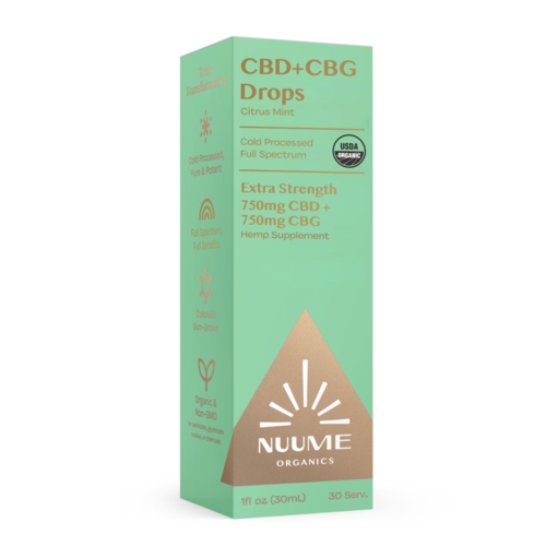 Nuume Organics Nuume Organics Full Spectrum Extra Strength CBG+CBD, Citrus Mint, 1oz