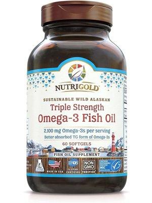 Nutrigold Nutrigold Triple Strength Omega-3 Fish Oil, 60sg