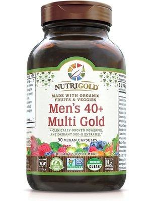 Nutrigold Nutrigold Men's 40+ Multi Gold, 90vc