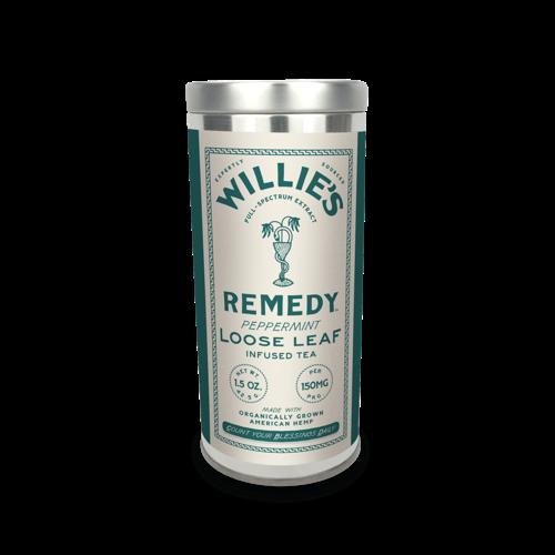 Willie's Remedy Willie's Remedy Hemp-Infused Peppermint Tea Tin, 1.2oz