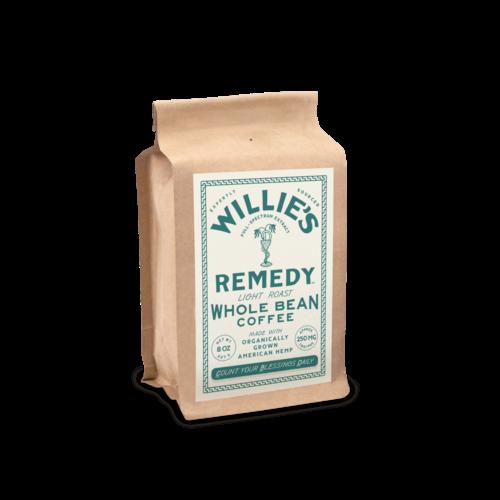 Willie's Remedy Willie's Remedy Light Roast Whole Bean Hemp Coffee, 8oz