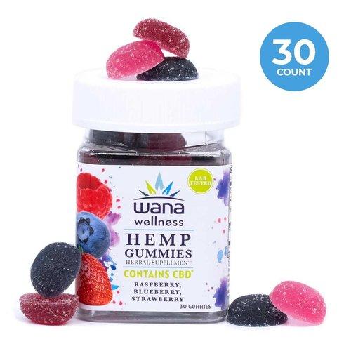 Wana Wellness Wana Wellness CBD Gummies, Berry, 20mg, 30ct