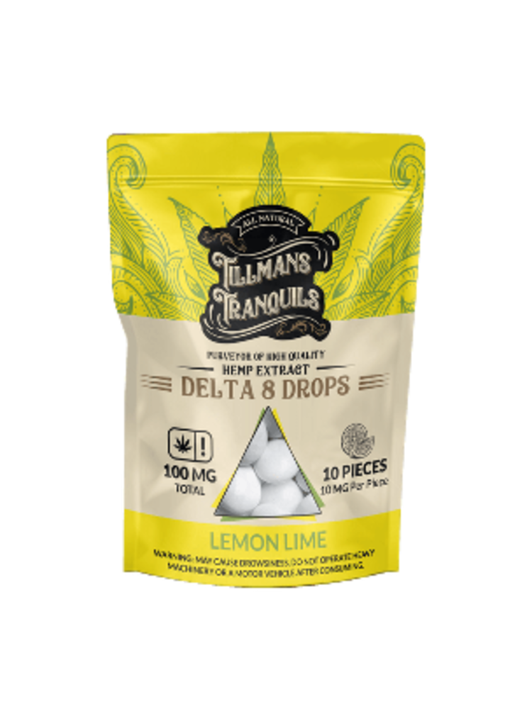 Tillman's Tranquils Tillman's Tranquils Delta 8 THC Drops, Lemon Lime, 10mg, 10ct