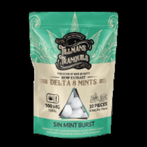 Tillman's Tranquils Tillman's Tranquils Delta 8 THC Mints, Sin Mint Burst 10mg, 10ct