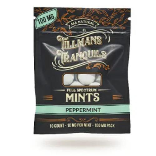 Tillman's Tranquils Tillman's Tranquils CBD Mints, Peppermint, 10mg, 10ct