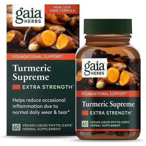 GAIA HERBS Gaia Turmeric Supreme Extra Strength, 60cp