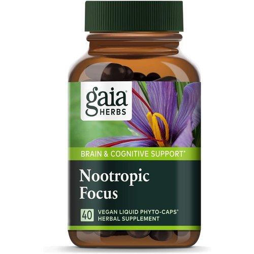 GAIA HERBS Gaia Nootropic Focus, 40ct