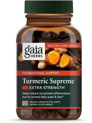 GAIA HERBS Gaia Turmeric Supreme Extra Strength, 120cp