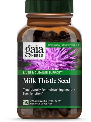GAIA HERBS Gaia Milk Thistle Seed, 120cp