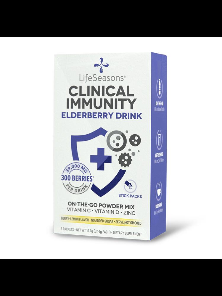 Lifeseasons Lifeseasons Clinical Immunity, Elderberry Drink, 5pk.