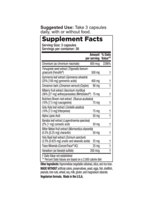 Lifeseasons LifeSeasons Glucose Stabili-T, 90cp.