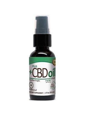 PLUS CBD PlusCBD Spray, Unflavored, 1oz