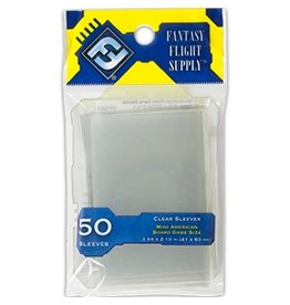 Fantasy Flight Supply FFG Mini American Sleeves 41x63mm 50pk Yellow