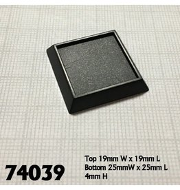 Reaper Mini Base Boss: 1 inch Square Bases (20)