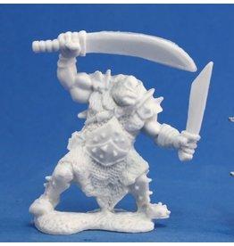 Reaper Mini Bones: Orc Stalker (Two Weapons)