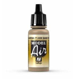 vallejo Model Air: Sand Yellow 17ml