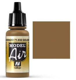 vallejo Model Air: Gold Brown 17ml