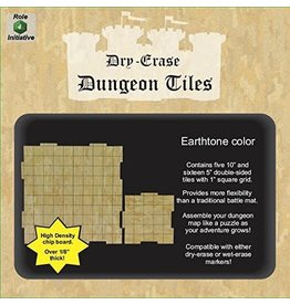 Roll 4 Initiative DUNGEON TILES: EARTHTONE DRY-ERASE SQUARES COMBO PACK