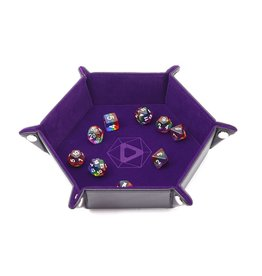 Die Hard Dice Folding Hex Dice Tray with Purple Velvet