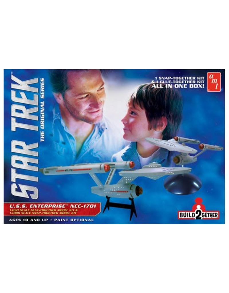 Star Trek USS Enterprise Build 2 Gether 1 Glue Snap 1650 11000