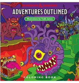 Wizards of the Coast D&D ADVENTURES OUTLINED COLORING BOOK (PB)