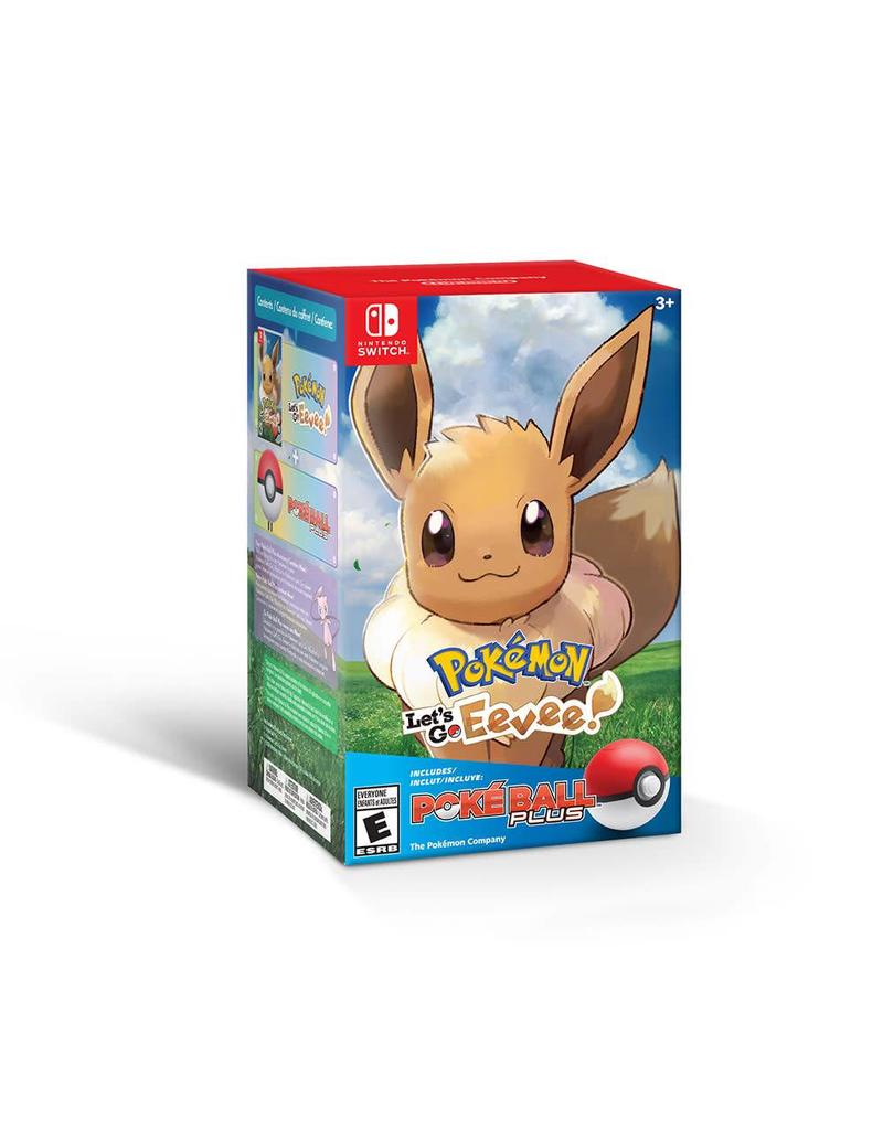Nintendo Pokemon Let's Go Eevee + Pokeball Plus Pack