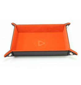 Die Hard Dice Folding Rectangle Dice Tray with Orange Velvet