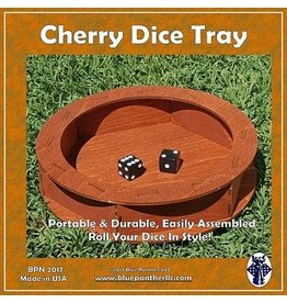 Blue Panther Dice Circular Wooden Dice Tray - Cherry