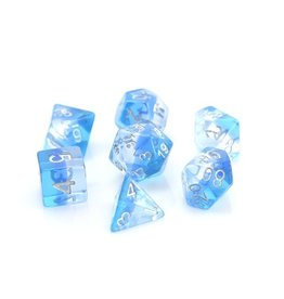 Die Hard Dice Poly RPG Dice Set: Translucent Ice Storm