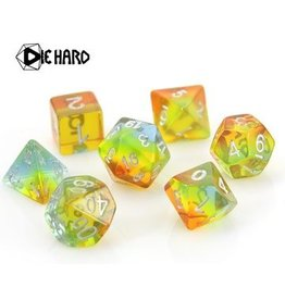 Die Hard Dice Poly RPG Dice Set: Translucent Sunshine Gradient
